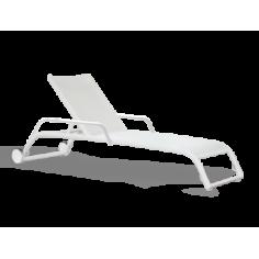 Bain de soleil empilable Duo avec roues et accoudoirs, Triconfort