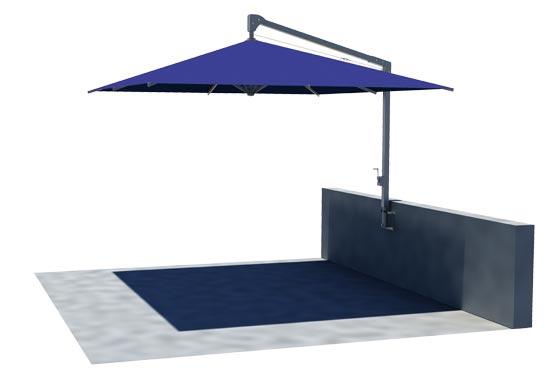 parasol excentré Amalfi - Caravita