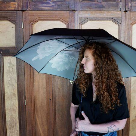 Parapluie recyclé - Pivoine noire - KLAOOS