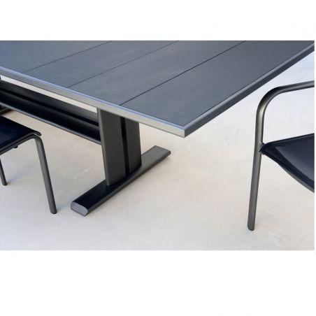 Table extensible KOTON - 190/285 x 105 cm - plateau latté HPL - LES JARDINS
