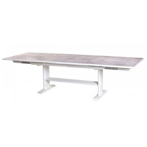 Table extensible KOTON - 190/285 x 105 cm - plateau latté HPL béton ciré - LES JARDINS