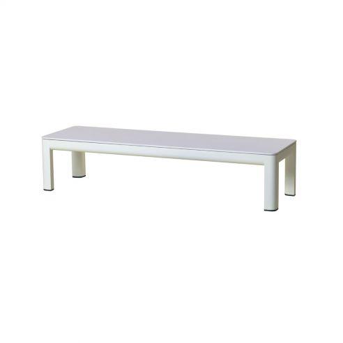 Table basse KOTON - 160 x 50 x 35 cm - plateau plein HPL blanc - LES JARDINS
