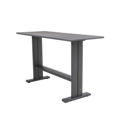 Table haute KOTON - 180 x 70 x 105 cm - plateau HPL noir irisé - LES JARDINS