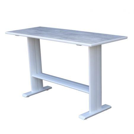 Table haute KOTON - 180 x 70 x 105 cm - plateau HPL béton ciré - LES JARDINS