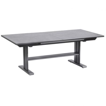 Table extensible KOTON - 200/300 x 102 x 75 cm - plateau céramique ardoise - LES JARDINS