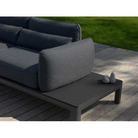 Canapé 2-3 places KOTON - structure gris espace - coussins graphite - LES JARDINS