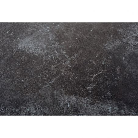 Table extensible TEKURA - 214/305 x 100 x 76 cm - teck et HPL ardoise - LES JARDINS