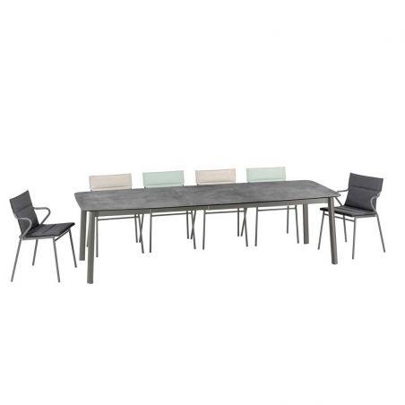 Table repas extensible ANCONE - Mineral - 108 x 220/280 cm - LAFUMA