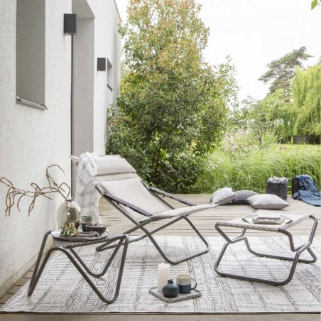 Tabouret - repose pieds Bayanne - Céladon - structure Kaolin - LAFUMA