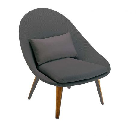 Fauteuil bas - VANITY - blanc - gris clair - VLAEMYNCK