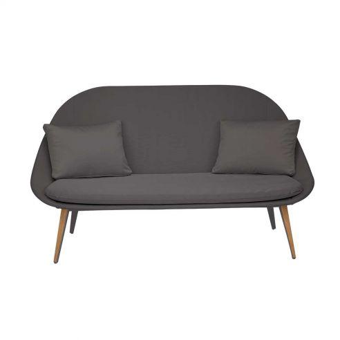 Sofa 2 places VANITY - anthracite/brun foncé - VLAEMYNCK