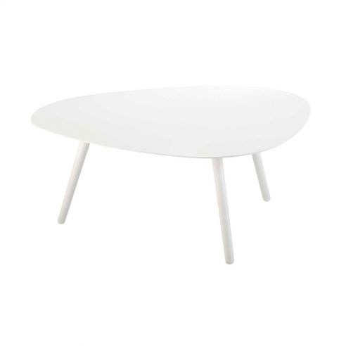 Table basse 3 pieds VANITY - blanche - VLAEMYNCK
