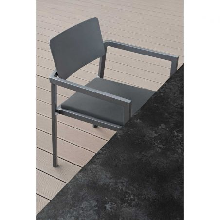 Table repas 240 x 90 cm PERSPECTIVE -anthracite - VLAEMYNCK