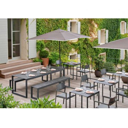 Banc repas PERSPECTIVE - anthracite - VLAEMYNCK
