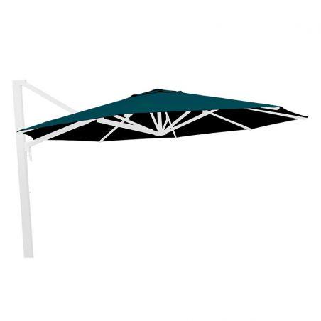 Parasol excentré Borée - 300 x 300 cm - mât anthracite - Vlaemynck