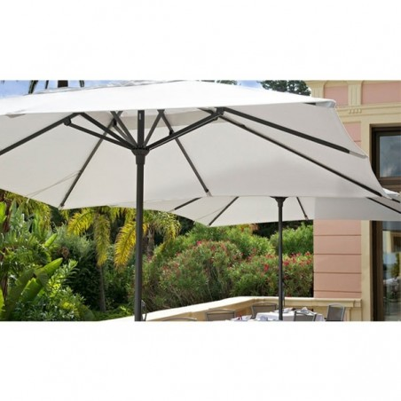 Parasol EASY OPEN 4m x 4m - VLAEMYNCK - Confort Jardin - les Issambres