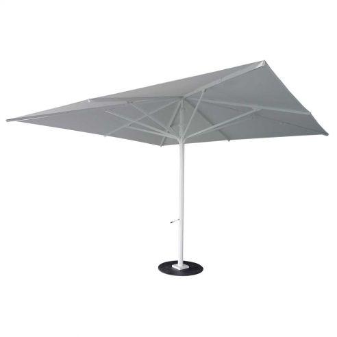 Parasol MAGNA 500 x 500 cm - mât blanc - VLAEMYNCK
