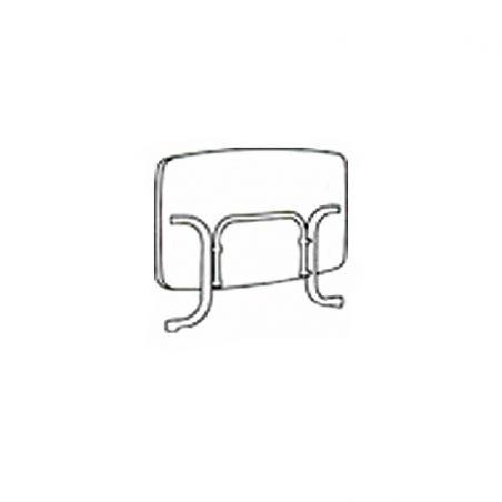 Table pliante 150x90 cm - blanche - acier blanc et plateau Mécalit pro - SIEGER