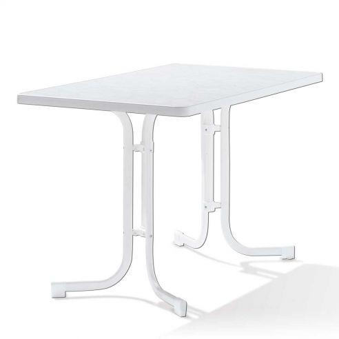Table pliante 115x70 cm - blanche - acier blanc et plateau Mécalit pro - SIEGER