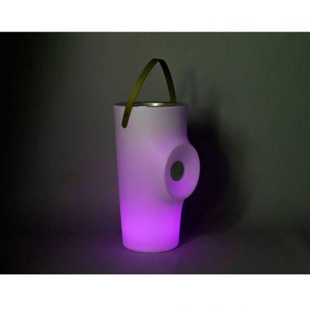 Seau à bouteilles avec haut-parleur lumineux - WOODY - NEW GARDEN