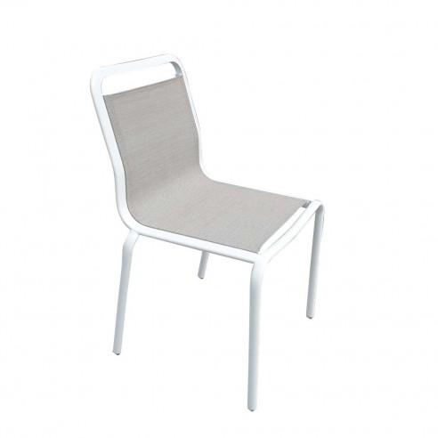 Chaise repas PALMAROLA - aluminium...