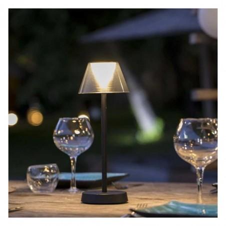 Lampe de table sans fil LED blanc chaud BEVERLY BLACK H34cm - Lumisky