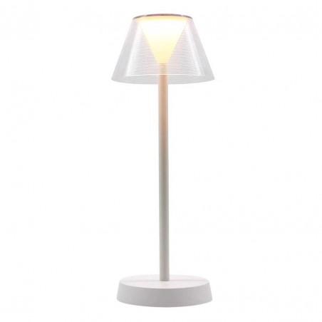 Lampe de table sans fil LED blanc chaud BEVERLY WHITE H34cm - Lumisky