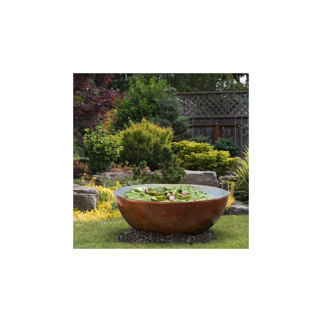 Fontaine d 39 ext rieur calice bassin de jardin de chez cactose for Fontaine bassin de jardin