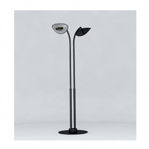 Lampe Chauffante Infrarouge Hotdoor - lampadaire double tige arc court