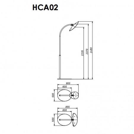 Lampe Chauffante Infrarouge Hotdoor - lampadaire simple tige arc moyen - structure blanche