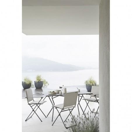 ANYTIME - chaise pliante - LAFUMA - Confort Jardin - Issambres - © Pierrick Verny