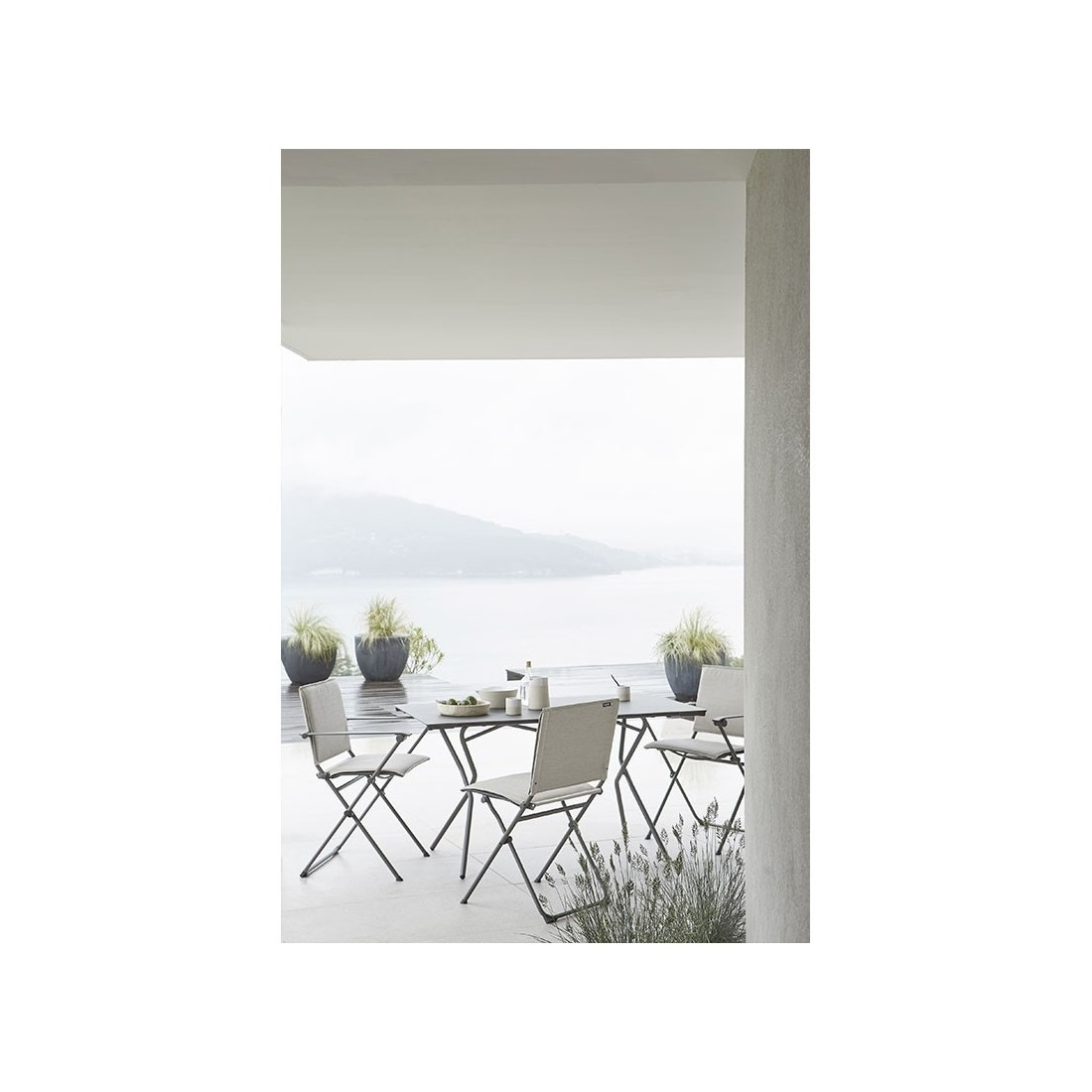 chaise de jardin pliante lafuma Chaise pliante ANYTIME de Lafuma, ambiance cocooning et bien être  chaise de jardin pliante lafuma