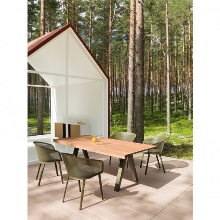 Chaise de jardin avec accoudoirs STAMPA Solid - KETTAL - Confort Jardin - Les Issambres