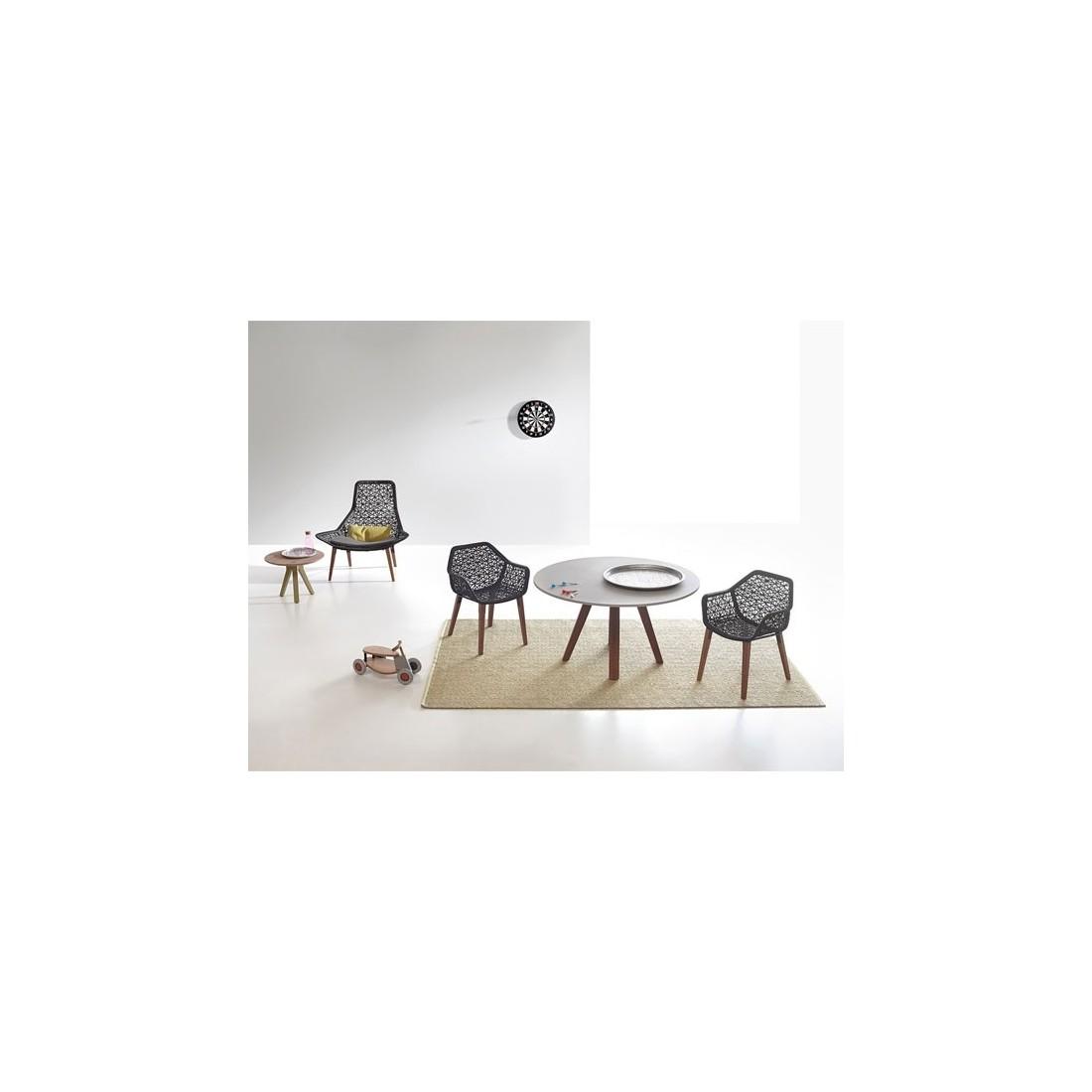 fauteuil salle manger maia pieds en teck kettal kettal confort jardin. Black Bedroom Furniture Sets. Home Design Ideas
