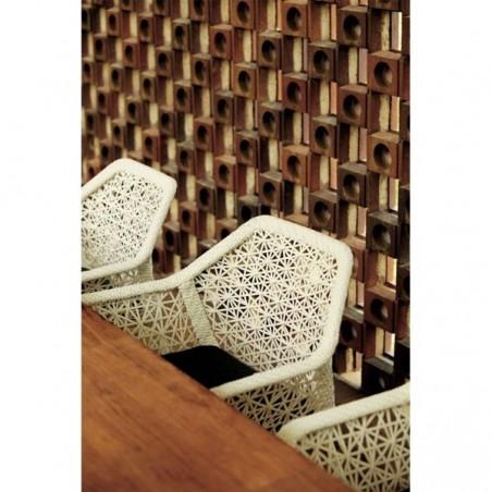 Fauteuil salle à manger MAIA, pieds en teck - KETTAL - Confort Jardin - Les Issambres