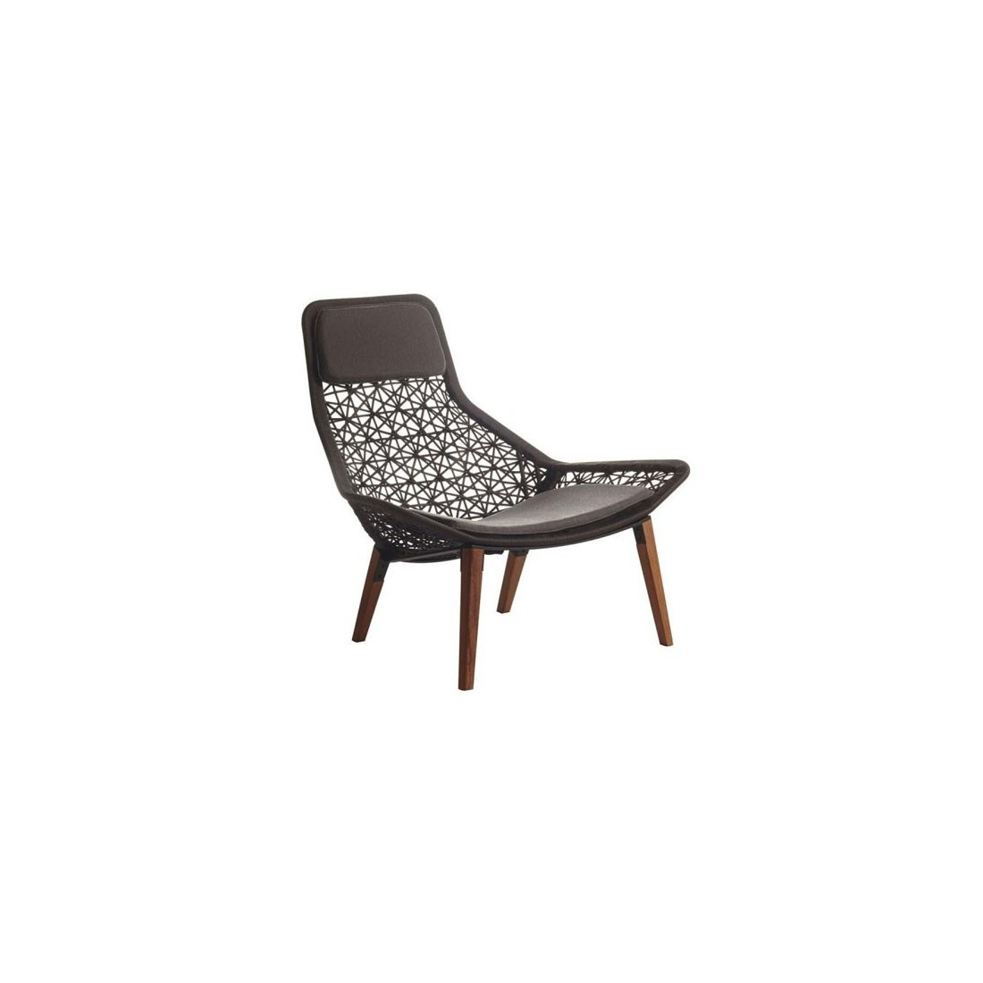 fauteuil relax maia pieds en teck kettal kettal confort. Black Bedroom Furniture Sets. Home Design Ideas