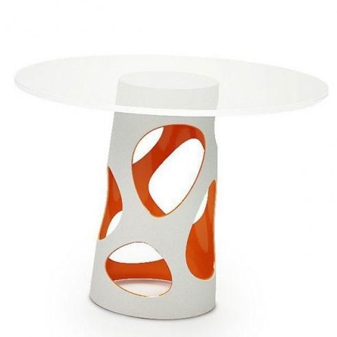 Table LIBERTY L, plateau rond en verre trempé - MYYOUR - Confort Jardin