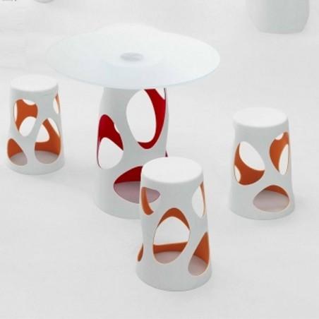 Table LIBERTY L, plateau en verre trempé  - MYYOUR