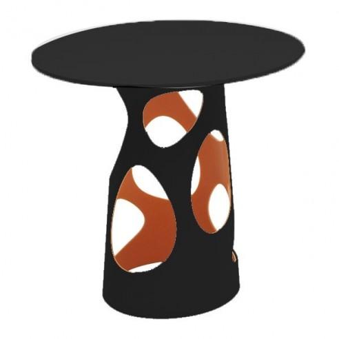 Table LIBERTY L, plateau en HPL noir - MYYOUR - Confort Jardin