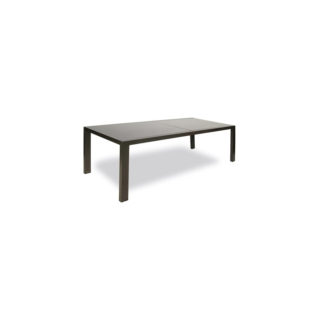 Table Landscape fixe deKettal, structure en aluminium avec plateau en verre  Taille 100 x 242 cm