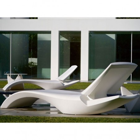 Bain de soleil design  ZOE avec dossier réglable  - MYYOUR - Confort Jardin