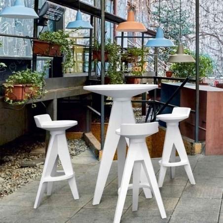 Table Haute OXFORD Plateau Rond - MYYOUR - Confort Jardin