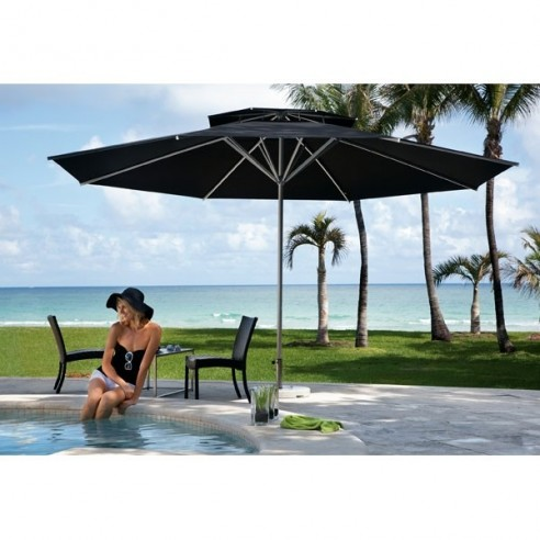 parasol avec manivelle samara caravita. Black Bedroom Furniture Sets. Home Design Ideas