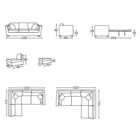 Canapé d'intérieur BANDOL - ISC - Confort Jardin - Les Issambres