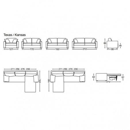 Canapé convertible KANSAS - ISC - Confort Jardin
