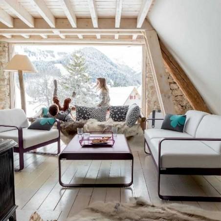 Canapé droit  - BELLEVIE - 2 places - Gris flanelle  - FERMOB - Confort Jardin - Les Issambres