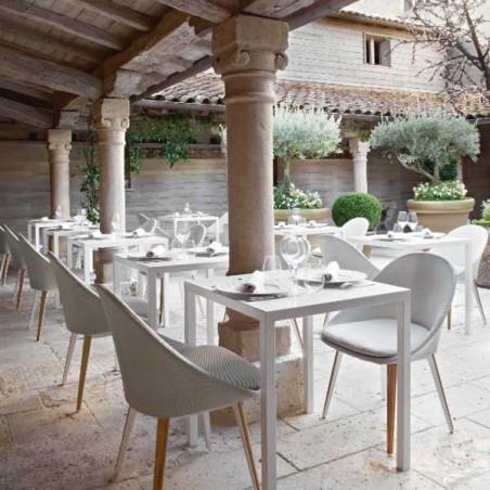 Chaise repas rembourrée - VANITY - VLAEMYNCK - Confort Jardin - Les Issambres