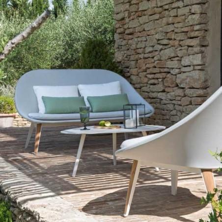 Sofa 2 places VANITY - blanc/gris clair - VLAEMYNCK