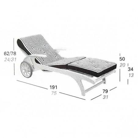 Coussins compatibles bain de soleil Riviera MT200 - TRICONFORT