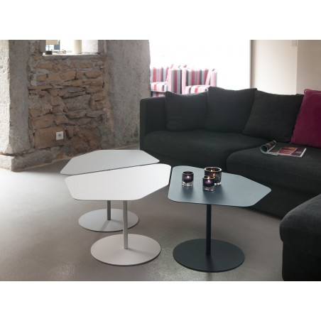 Table basse kona, aluminium, Matière grise